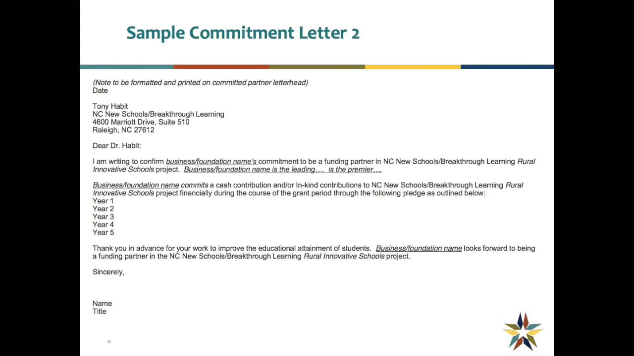 Sample commitment letters youtube sample commitment letters altavistaventures Image collections