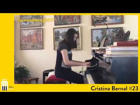 Cristina Bernal - Finalista Piano Meeting 2017