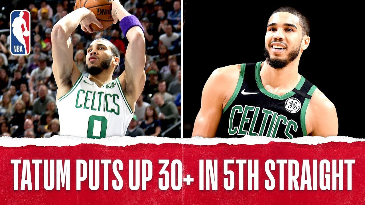 Jayson Tatum ON FIRE With 30+ PTS In Five Consecutive Games!