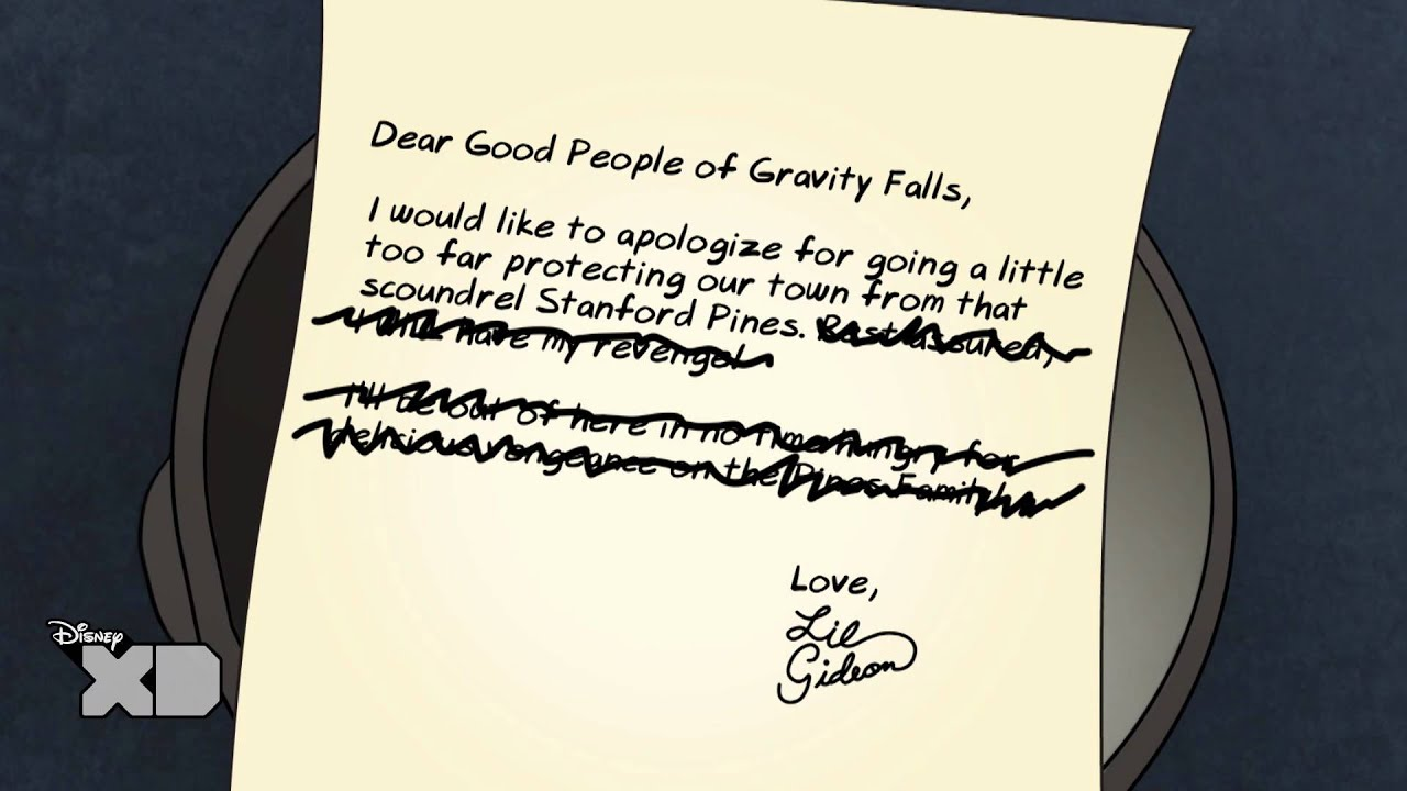 Gravity Falls Hd Wallpaper Gravity Falls Creepy Letters From Lil Gideon 4