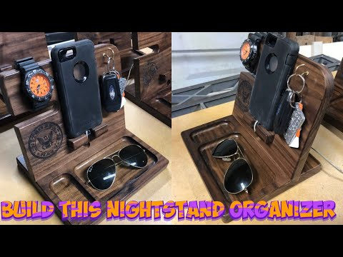 DIY Phone Dock Station and Nightstand Organizer