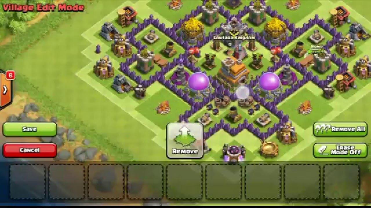 Base Coc Th 7 Anti Giant Dan Dragon 3