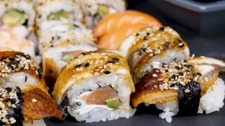 Sushi Rolls Stock Video