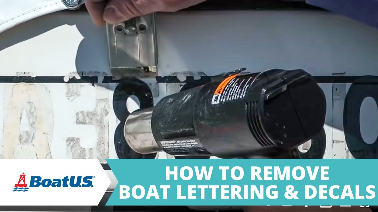 How To Remove Boat Lettering YouTube - Boat decals and lettering   easy removal