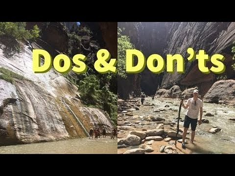 The Narrows, Zion National Park- 5 things to know Before Visiting
