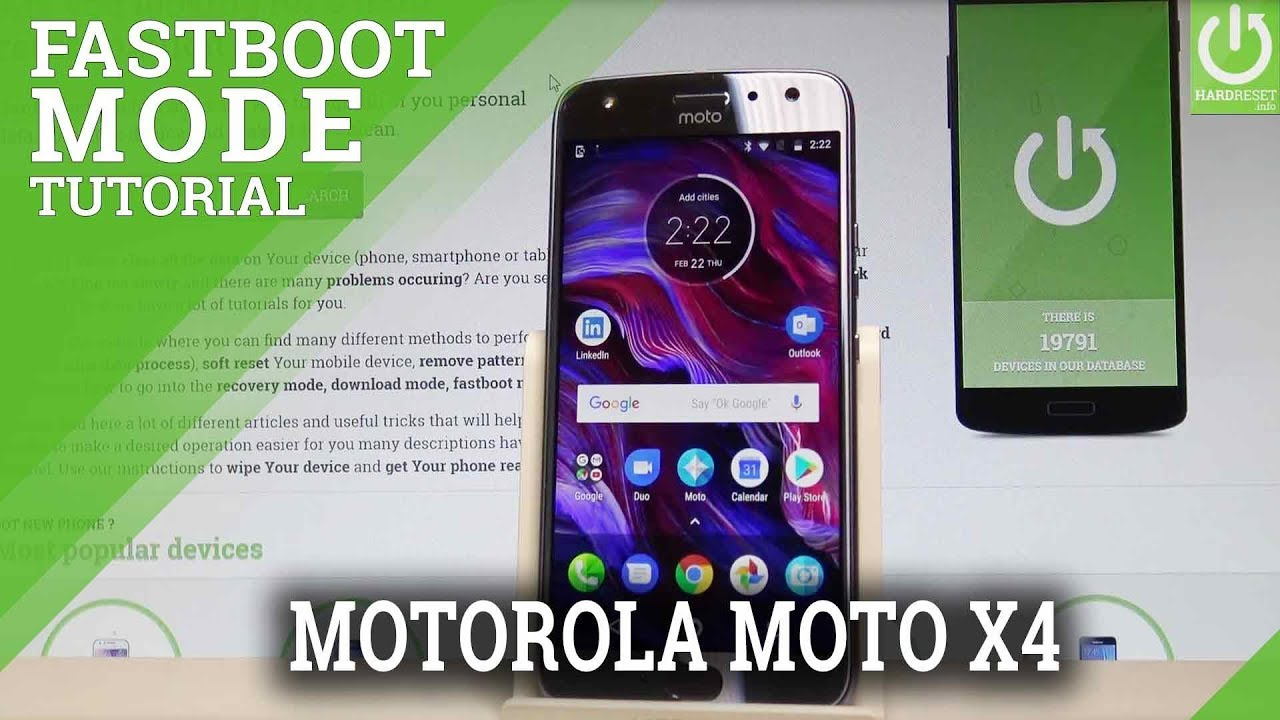 How to Enter Fastboot Flash Mode in MOTOROLA Moto X4 - Bootloader Mode
