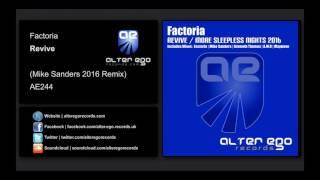 Скачать Factoria Revive Mike Sanders Remix Alter Ego Records
