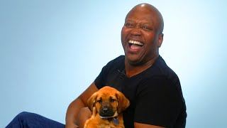 Tituss Burgess Plays With Puppies While Answering Fan Questions