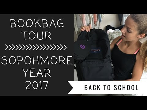 WHATS IN MY BOOKBAG?!? 2017 | SOPHOMORE YEAR!
