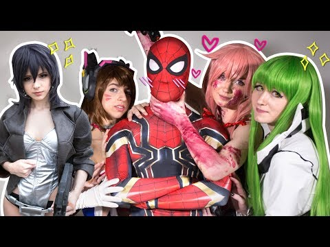 SPIDER-MAN & THE SPIDERVERSE Ep. 5 EPIC Cosplay Party Ft. Pretty Girls - 동영상