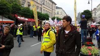 Protest SOLIDARNOSCI - 14 września 2013 Warszawa