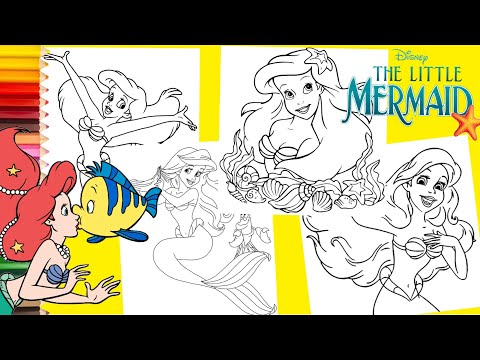 Coloring Disney Princess Ariel The Little Mermaid - Coloring Pages for kids