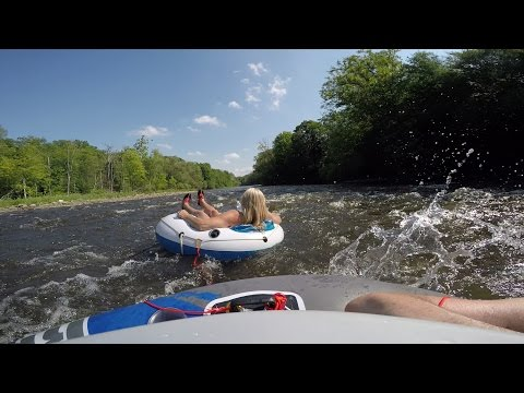 Tubing on the West Canada in 4K