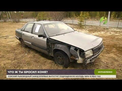 В Муравленко избавляются от брошенного во дворах автохлама