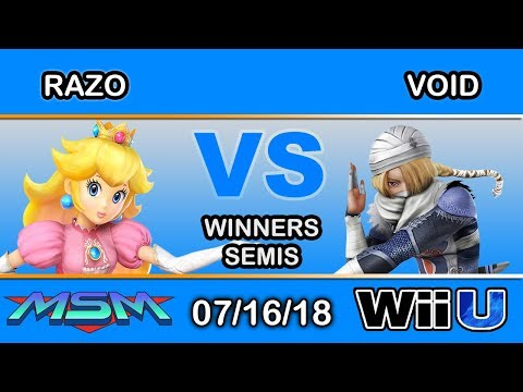 MSM 155 - Upsla | LH | Razo (Peach) Vs CLG | VoiD (Shiek) Winners Semis - Smash 4