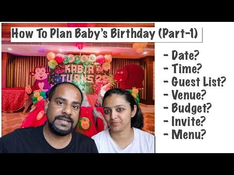 How To Plan Your Baby's Birthday (Part-1)