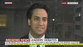 Ed Miliband Says He