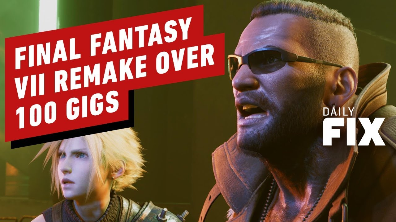 Final Fantasy VII Remake Install Size Is 100 Gigs thumbnail