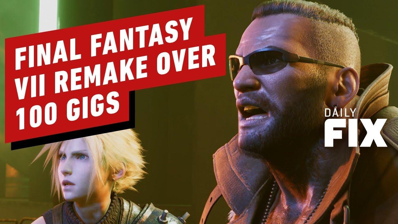 El tamaño de instalación de remake de Final Fantasy VII es de 100 conciertos - IGN Daily Fix + vídeo