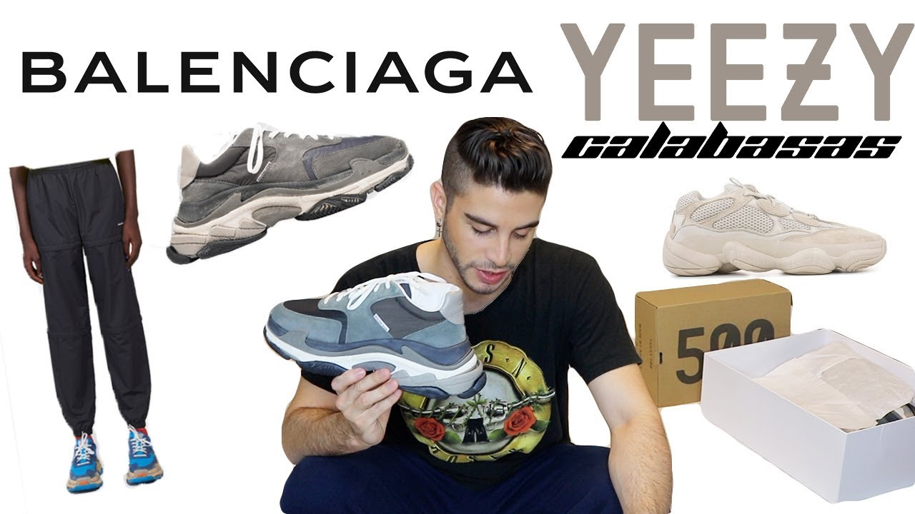 8fbff68a7 2018 Balenciaga Triple S V2   Yeezy 500 Unboxing   How to Style ...