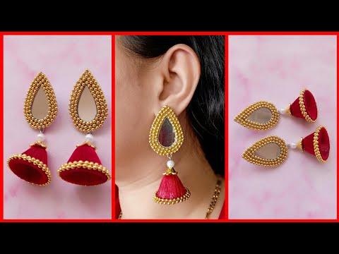 Silk Thread Earrings / Tutorial