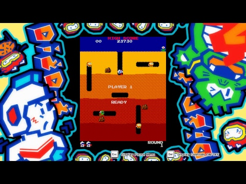 Dig-Dug   Arcade Game Series   VGHI Play 'n' Chat Live Stream