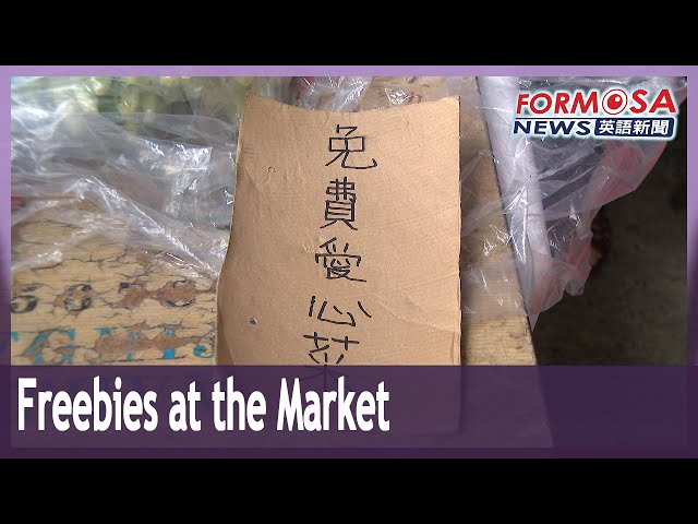 New Taipei market stall offers free vegetables to locals in need