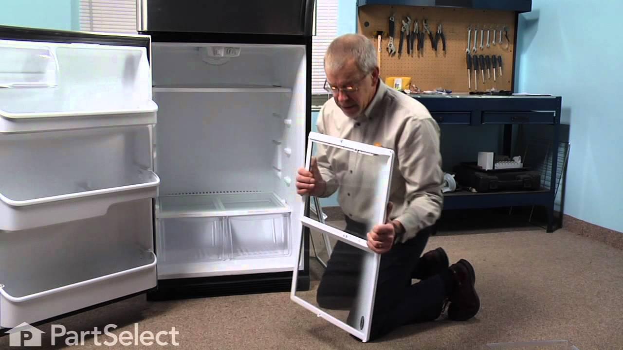 Refrigerator Repair Replacing The Spill Safe Glass Shelf