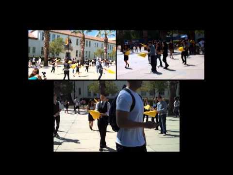 San Jose State University RAINN Day Flash Mob.09.22.2011