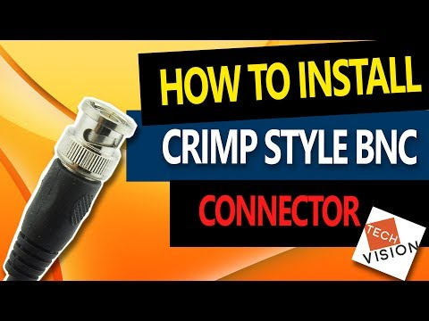 BNC Connector Installation: How to connect BNC crimp-on connector to RG59 Coaxial Cable