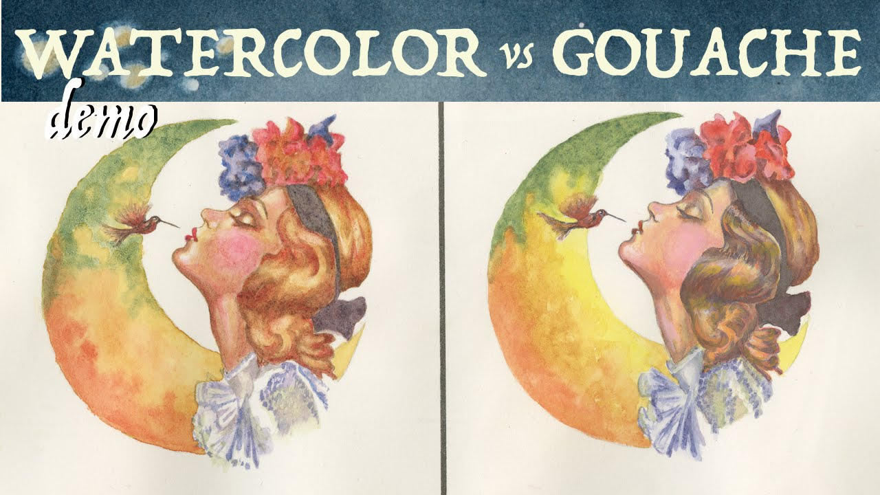 watercolor vs gouache painting with grisaille youtube