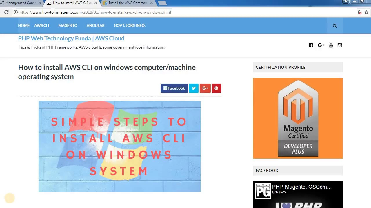 How to install AWS CLI on windows computer/machine operating system