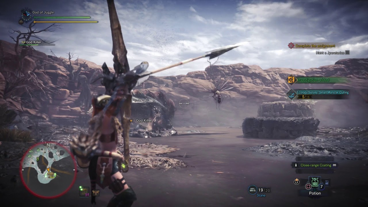 Monster hunter world sinister shadows in the swamp quest for Piscine wyvern