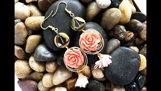 How-To Jewelry Video: Rose Wire-Wrapped Earrings