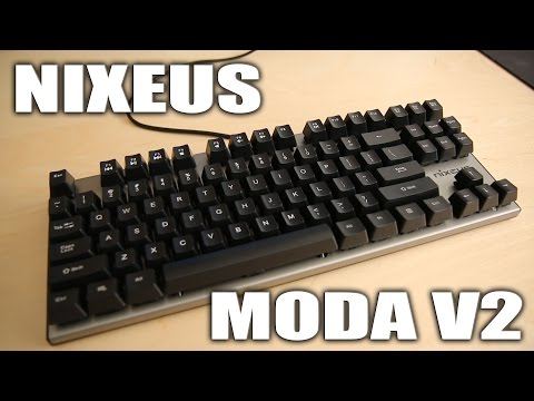 Nixeus MODA V2 Mechanical Keyboard - Review and Typing Test