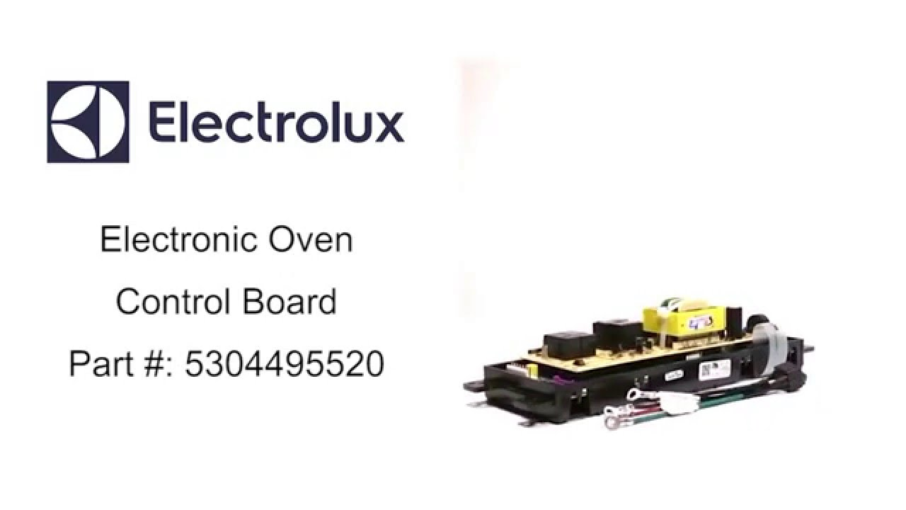 electrolux electronic oven control board part number 5304495520 [ 1280 x 720 Pixel ]
