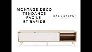 tuto montage meuble tele design youtube