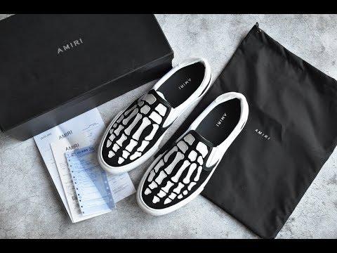 Amiri Amiri Black \u0026 White Bones Slip-On