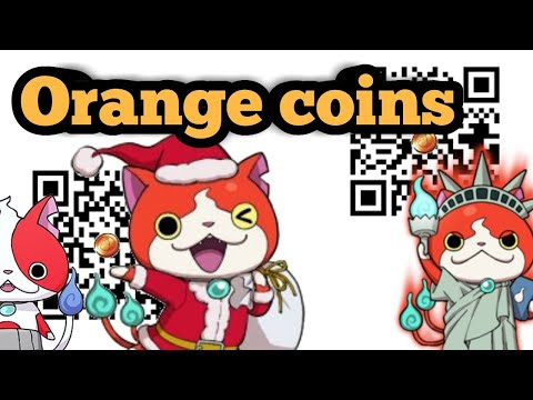 Yo Kai Watch Orange Coin Qr Codes Yo Kai Watch 2 Qr Codes