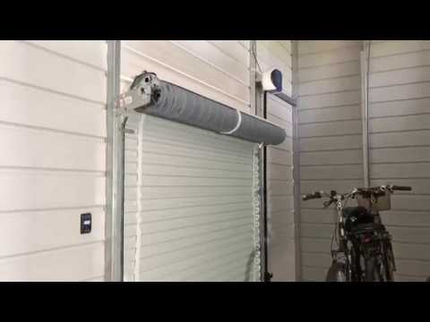 Roll Up Automatic Garage Door Opener Youtube