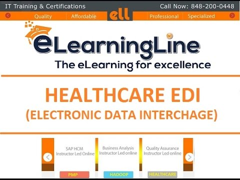 Healthcare EDI || EDI Transactions || HIPAA EDI Tutorials by eLearningLine @ 848-200-0448