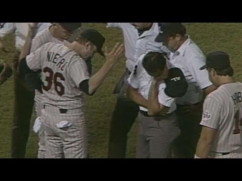 MIN@CAL: Joe Niekro ejected from game