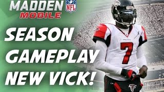 Madden Mobile - Season Gameplay! New Michael Vick!