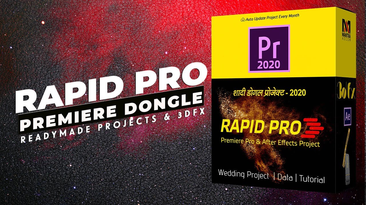 Premiere Pro Dongle Data | Rapid Pro Dongle Data | Readymade Wedding Project