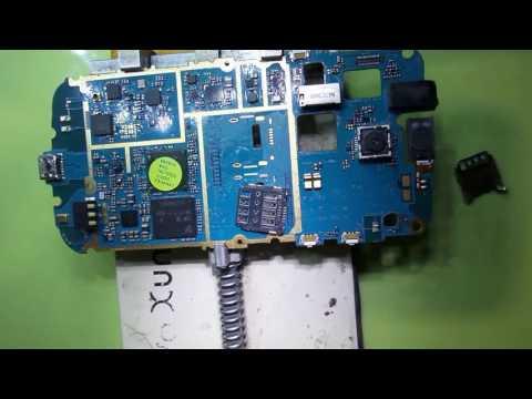 طريقة تغيير كونكتور كارت سيم SIM card change Connector samsung s7390
