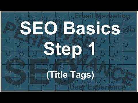 Step 1 - SEO Training Series - Step 1 in starting to learn Basic SEO (Title Tags)