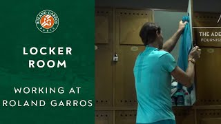 Working at Roland-Garros - Locker room | Roland-Garros 2019