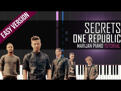 How To Play One Republic Secrets Piano Tutorial Easy Youtube