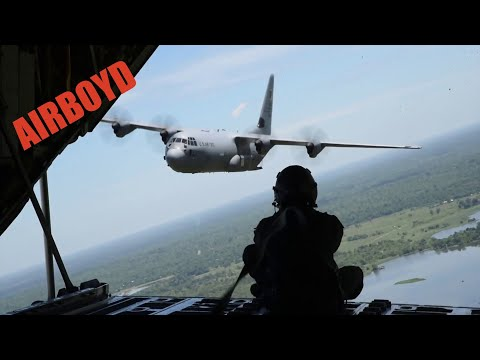 C-130J Super Hercules Air Drop - Sri Lanka Air Force Station Ampara
