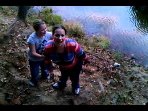 Girl gets wet fell from rope jerra
